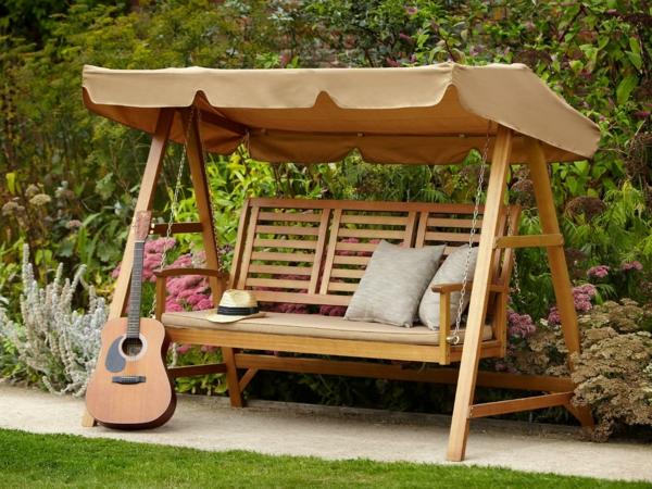 Ausgelesene Holzschaukel Designs für Ihre Gartengestaltung[R
