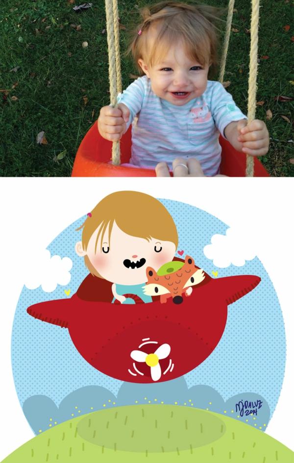 kinderfoto mädchen foto schaukel flugzeug