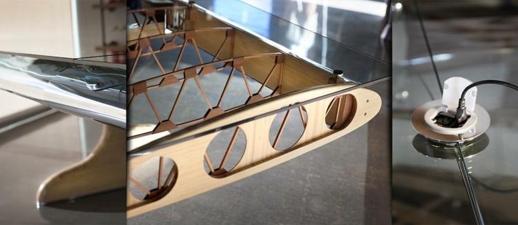 industrial design möbel Flying Bamboo Biplane details