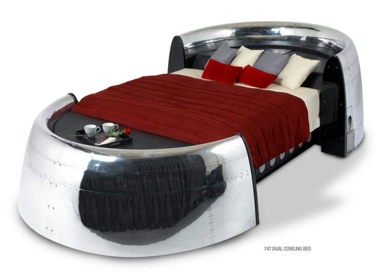 industrial design möbel ausgefallene möbel bett 747 dual cowling bed