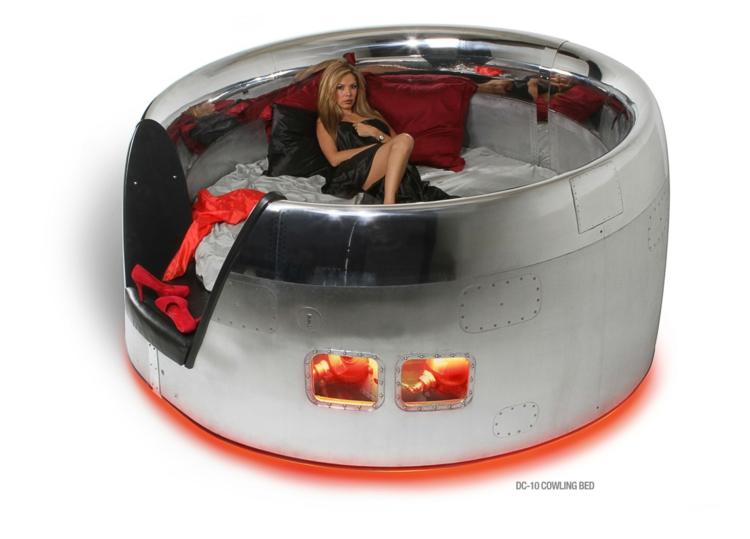 industrial design möbel ausgefallene möbel bett dc 10 rundbett