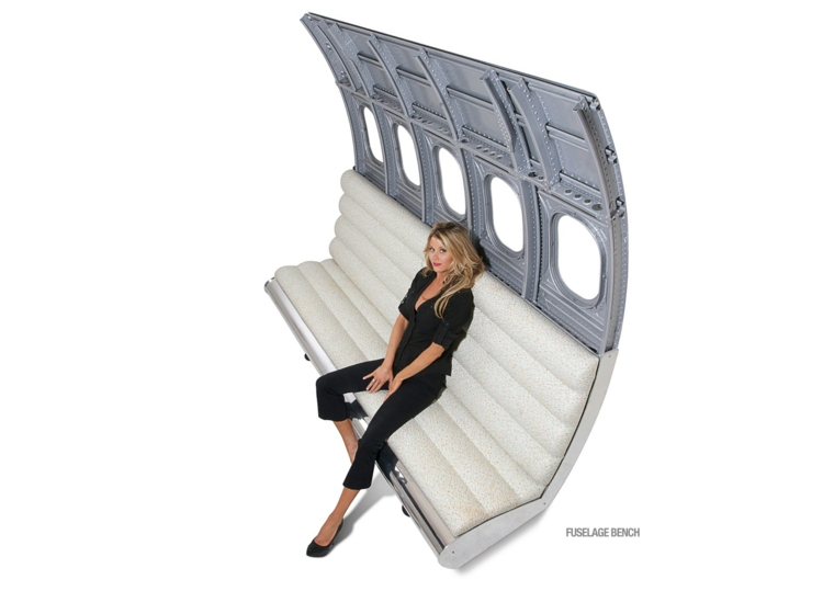 industrial design möbel ausgefallene möbel fuselage bench bank sofa