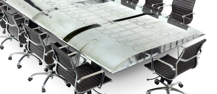 industrial style möbel ausgefallene möbel büroeinrichtung tisch B 52 Bomber konferenzsaal