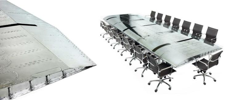 industrial style möbel ausgefallene möbel büroeinrichtung tisch B 52 Bomber