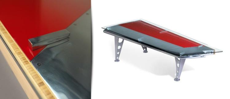 industrial style möbel ausgefallene möbel konferenzsaal tisch DC 9 rot