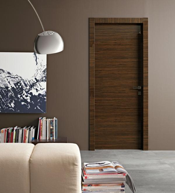 Zimmertüren modern dunkel  Innentüren aus Holz - moderne Zimmertüren als Übergang zwischen Räumen