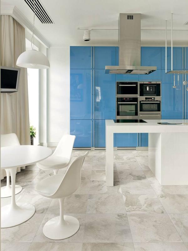 küche essecke weiß möbel fliesen
