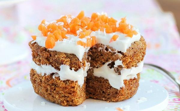karottenkuchen mini kuchen schnell