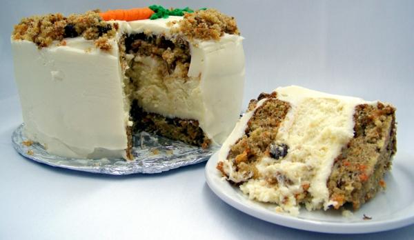 karottenkuchen sahne butter glasur füllung johannisbeeren