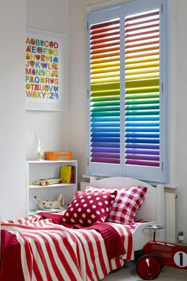 kinderzimmer dekorieren kleinkind farbige jalousien