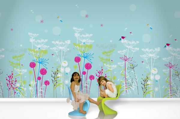 Tapeten kinderzimmer mädchen  Wanddeko Kinderzimmer -Wie eine Wand ein ganzes Zimmer bezaubern kann