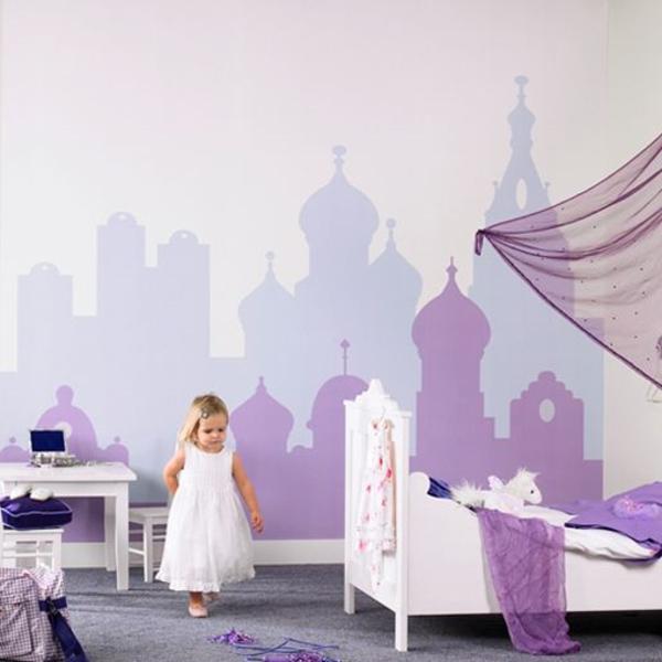 kinderzimmer wände dekorieren schöne wandmalerei