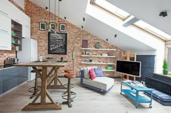kleine wohnung einrichten tipps dachfenster
