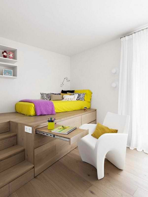 Kleine Wohnung Einrichten Tipps kleine wohnung einrichten tipps schön gestalten gelb bett jpg