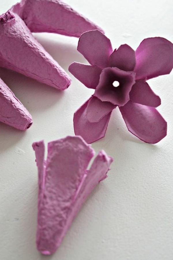 kreative bastelideen blume rosa deko ideen