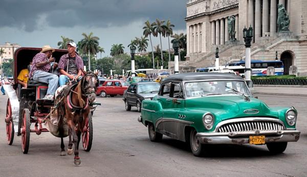 kubanische musik havanna straßen oldtimer kutsche