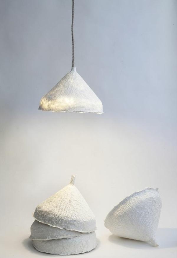 lampe papier basteln hängend tischlampe kronleuchter