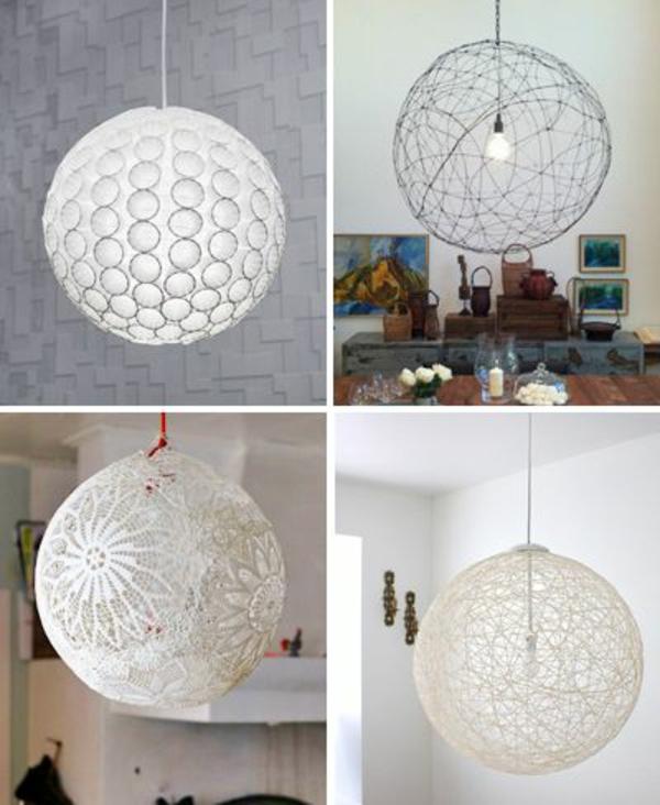 lampe papier basteln hängend tischlampe rund