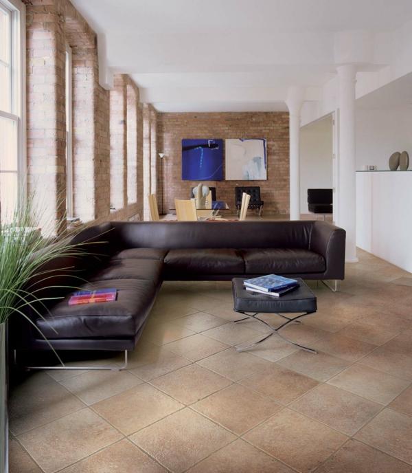leder sofa ideen stein