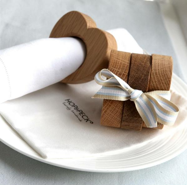 serviettenring holz ostergeschenke Hop&Peck serviettenring herz