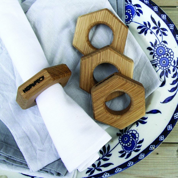 serviettenring holz ostergeschenke Hop&Peck serviettenring hexagon