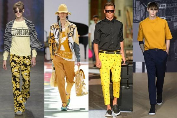männer outfits farben gelb moderends ss 2015 Modetipps Männern