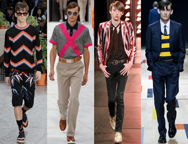 männer outfits modetrends 2015 Modetipps Männern streifen muster