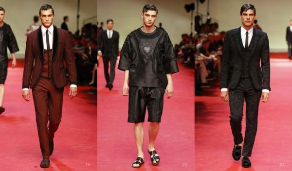 männer outfits modetrends dolce and gabbana ss 2015 Modetipps Männern