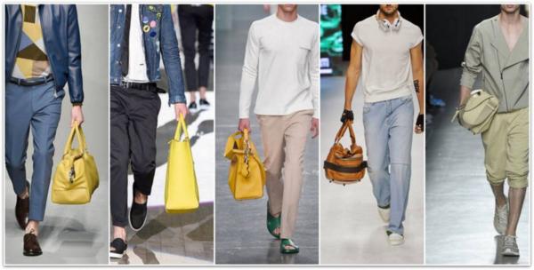 männer outfits trendfarben gelb modetrends ss 2015 männertaschen
