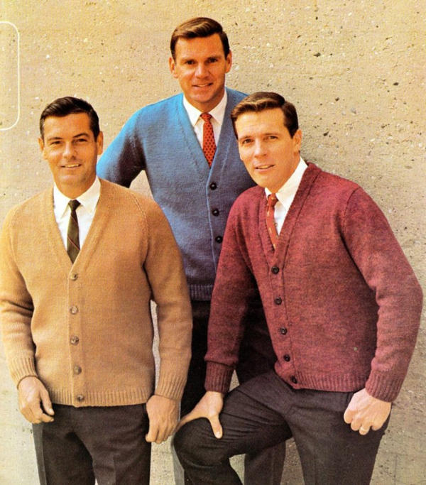 Male fashions in reflected the growing tendency to mix and match a wide variety of materials, styles and accessories. It was an exciting time in men's fashion. Tailored suits gave way to a unprecedented array of daring styles. Men wore turtlenecks, Nehru jackets and jeweled pendants.