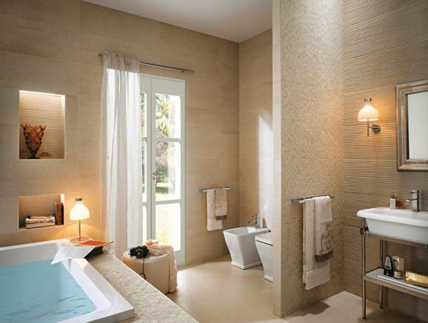 meltin beige trennwand badezimmer warm optik