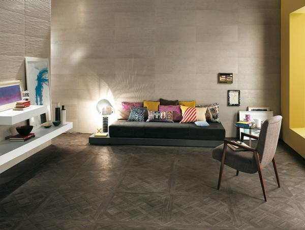 meltin beton effekt optik keramisch wand