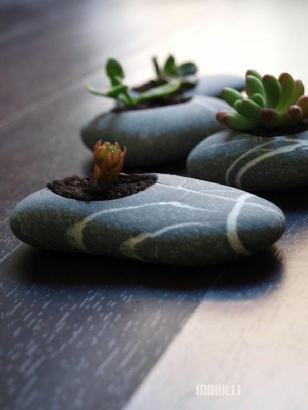 garten bastelideen mini zen wohnung steine