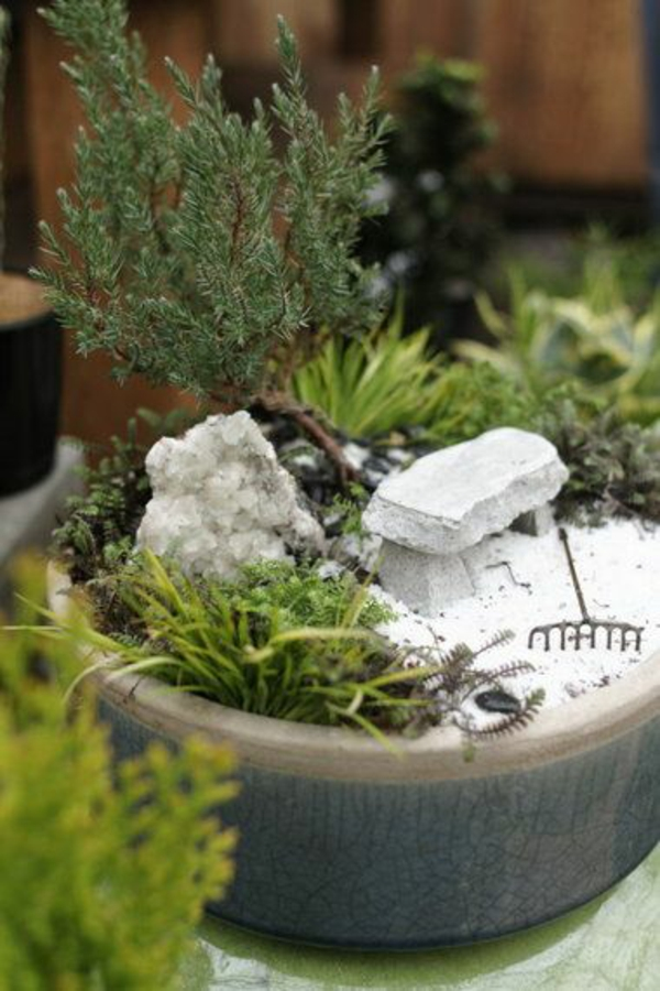 garten mini bonsai design grün mini zen