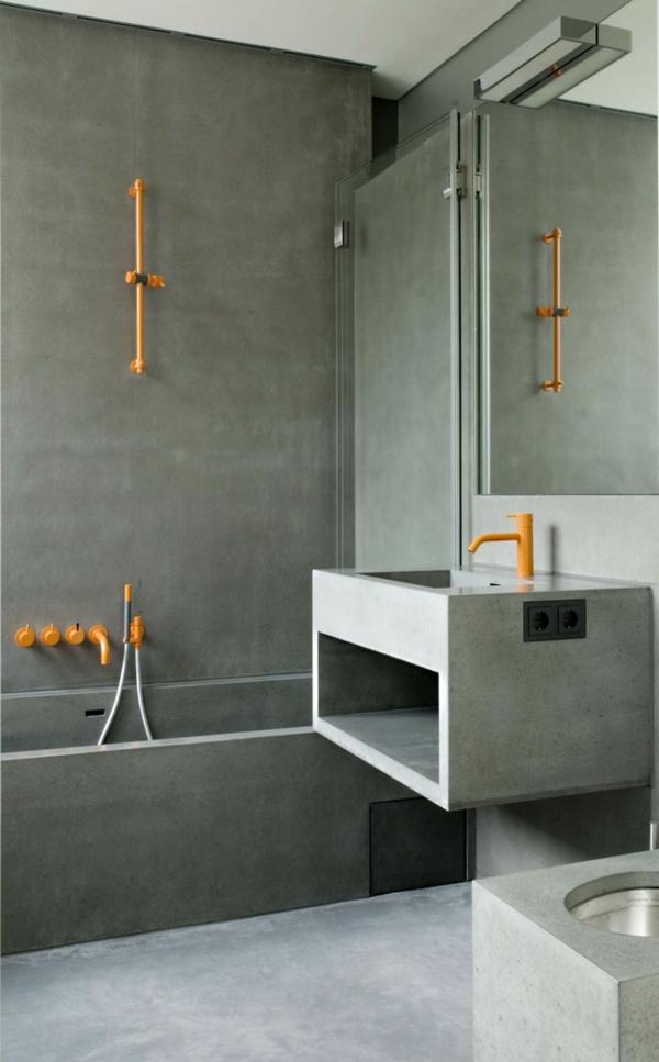 moderne badezimmerarmatur gelb badeinrichtung badewanne armatur