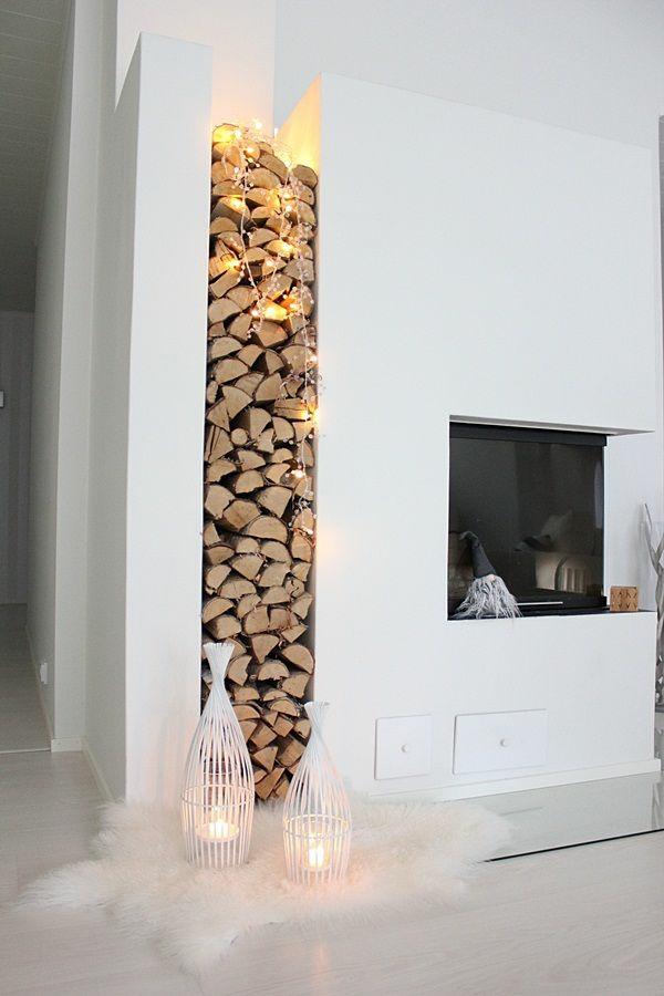 brennholzlagerung zu hause - stilvolle und originelle lösungen für sie