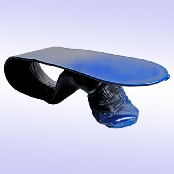 designer tische zunge blau moderne