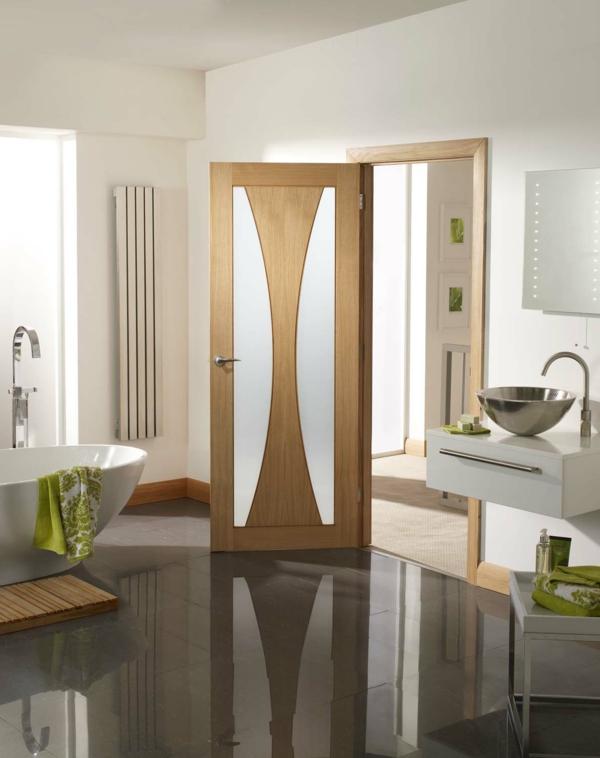 moderne innentür aderhac design glas holz badezimmer