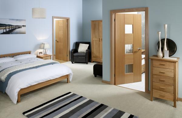 moderne innentürschlafzimmer teppichläufer streifenmuster