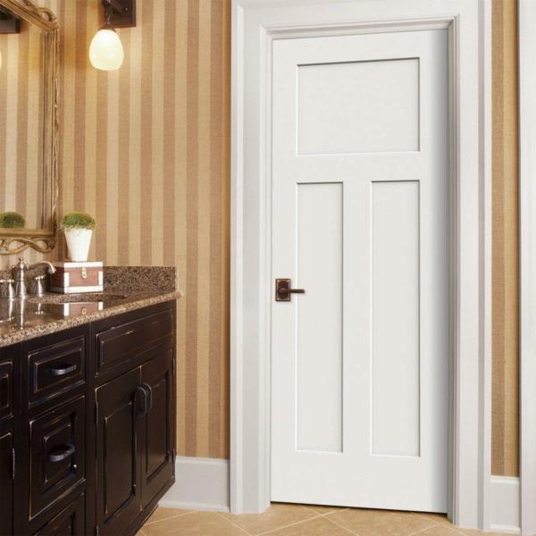 moderne weiße innentür holz design