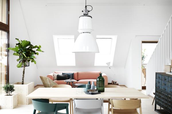 moderne zimmerpflanzen sofa esstisch kommode