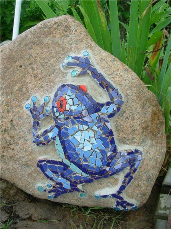 mosaik basteln anleitung frosch ideen