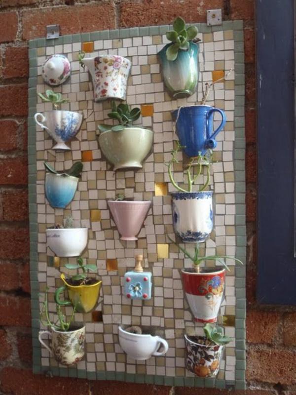 mosaik anleitung basteln mosaiksteine teetassen