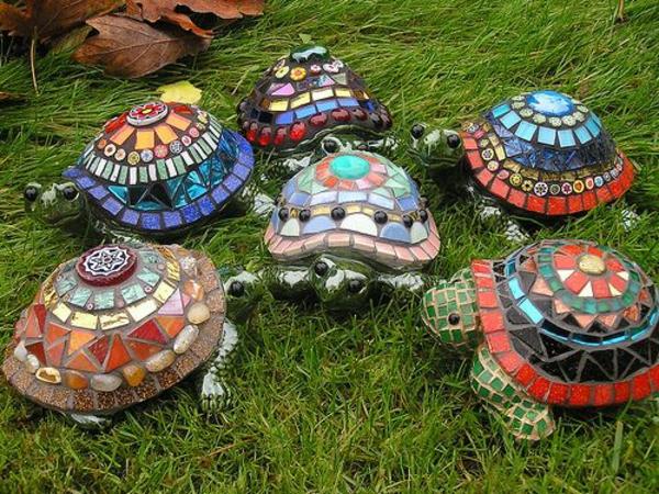 mosaik anleitung basteln schildkröten