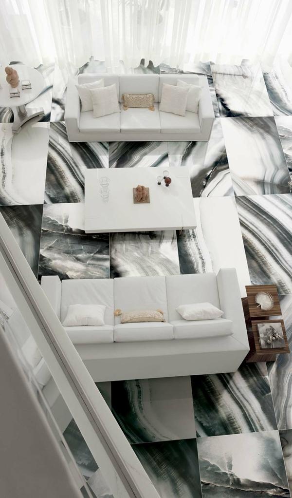mosaik muster wohnzimmer fliesen boden