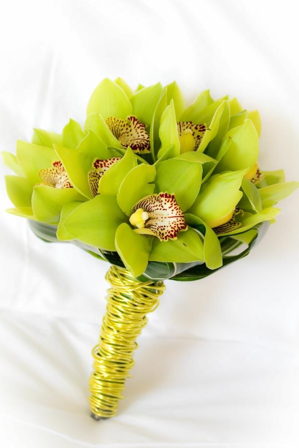 orchideenarten schöner blumenstrauß grüne orchideen cymbidium orchid