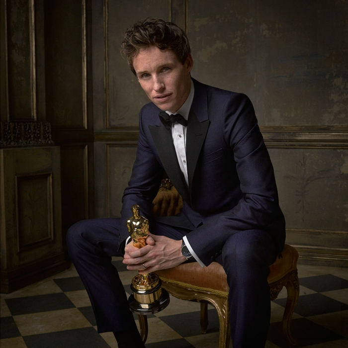 oscar verleihung portraitfotos Eddie Redmayne fotografer mark seliger für vanity fair