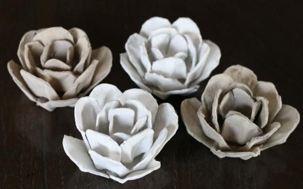 osterdeko basteln blumen basteln schöne rosen