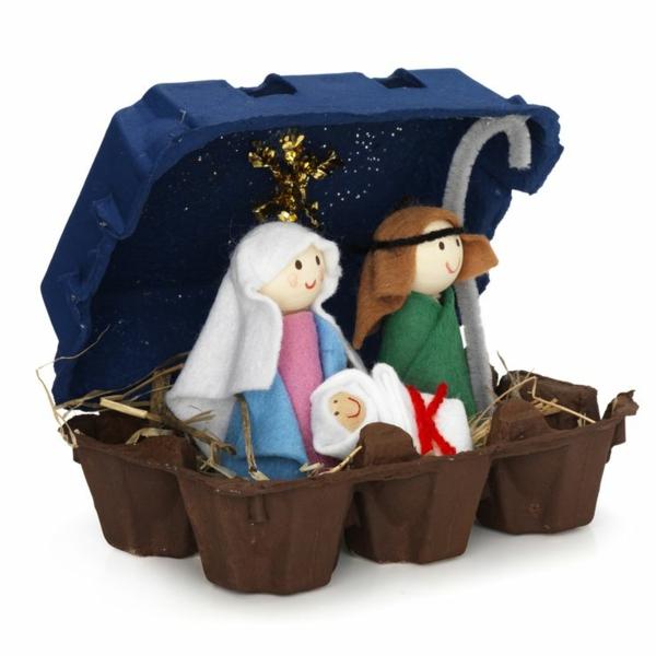 Osterdeko basteln ausgefallene deko aus eierschachteln for Basteln weihnachten pinterest