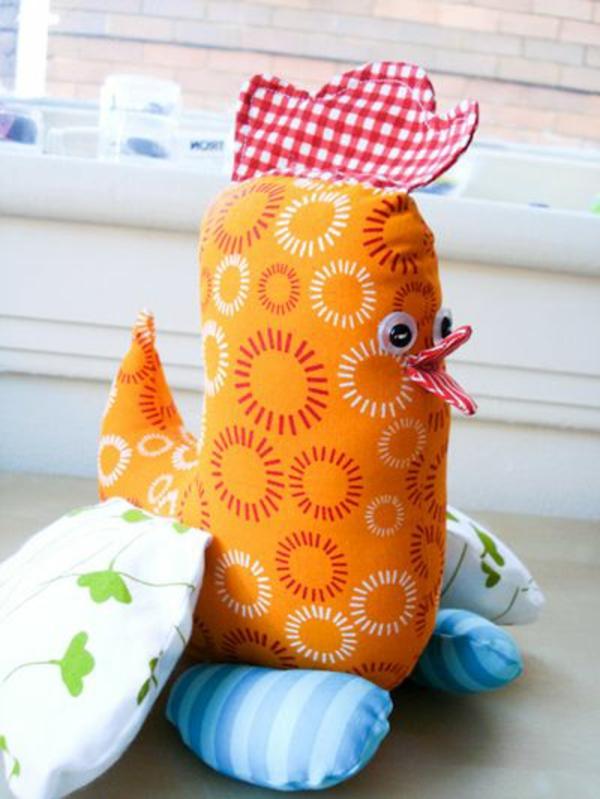 osterdeko nähen orange henne schöne dekoideen